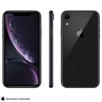 """iPhone XR Preto com Tela de 6,1"""", 4G, 128 GB e Câmera de 12 MP - MRY92BR/A"""
