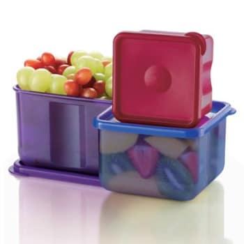 Kit 3 Potes Innovaware Quadrados Rouge