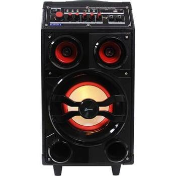 Caixa de Som Amplificadora Bluetooth Lenoxx CA309 Preta 100W Multiuso com Microfone sem Fio