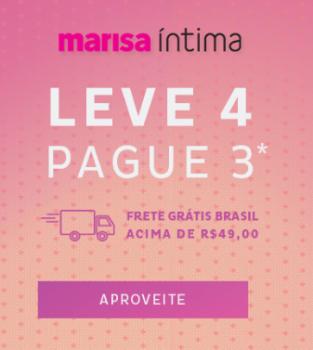 4425251894168f Lingerie - Leve 4 Pague 3 - Marisa em Promoção no Oferta Esperta