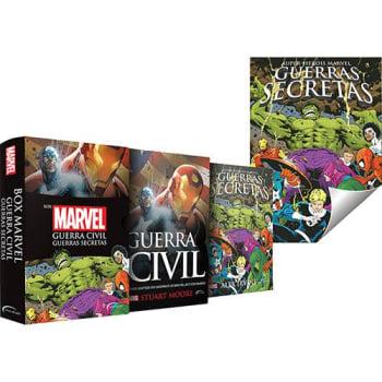 [Primeira compra]  Box - Marvel: Guerra Civil e Guerras Secretas (Edição Slim) + Pôster