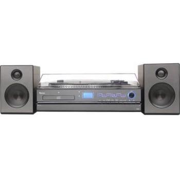 Sistema de Áudio Hi-Fi Aria Raveo com Toca-Discos CD Player Rádio FM USB Bluetooth e NFC