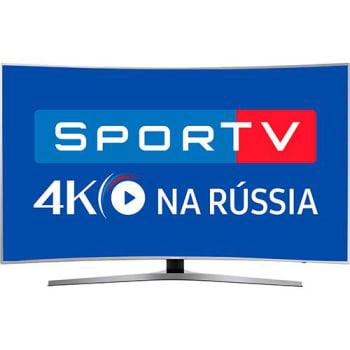 "Smart TV LED Curva 55"" Samsung 55MU6500 UHD 4k com Conversor Digital 3 HDMI 2 USB HDR Premium Smart Tizen Controle Remoto Único Design 360º - Prata"