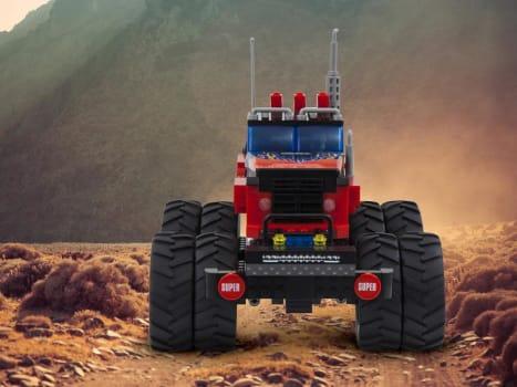 Blocos de Montar 375 Peças Bee Blocks - Cidades - Monster Truck - Bee Me Toys