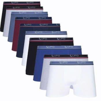 Kit Com 10 Cuecas Boxer Cotton Confort 523-002 - Lupo