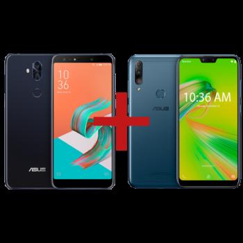 ZenFone 5 Selfie Pro 4GB/128GB Preto + Zenfone Max Shot 3GB/32GB Azul