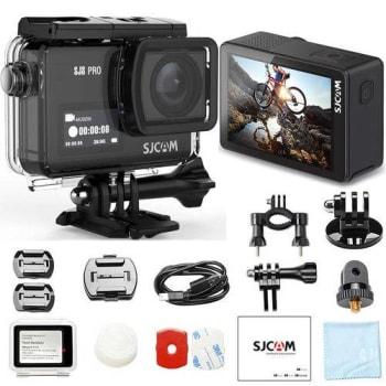 Câmera Filmadora Sjcam Sj8 Pro Original 4k 60fps Wifi Ambarella Zoom 8x 12mp À Prova D'água - Preta