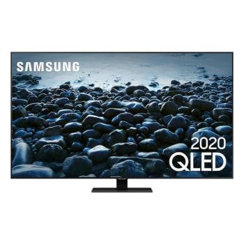 "Smart TV Samsung Q80T 65"" QLED 4K Borda ultrafina modo ambiente 3.0 Preto"