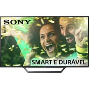 "Smart TV LED 40"" Sony KDL-40W655D Full HD com Conversor Digital 2 HDMI 2 USB Wi-Fi Foto Sharing Plus Miracast Preta"