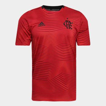 Camisa Flamengo Pré-Jogo 19/20 Adidas Masculina