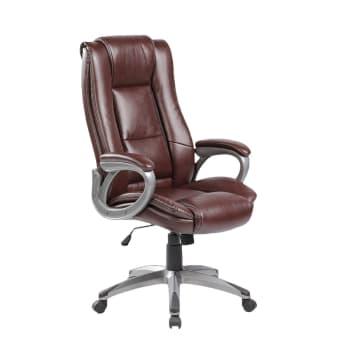 Cadeira para Escritório em Aço Carrefour Home Marrom ML-7263