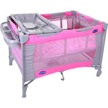 Berço Mochila Prime Baby com Porta Fraldas Amici Rosa