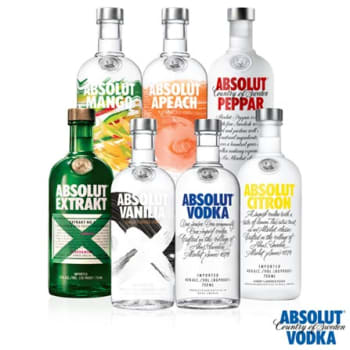 Vodka Absolut Collection 750ml - 07 Unidades