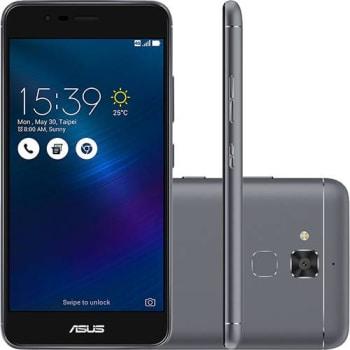 "Smartphone Asus Zenfone 3 Max Dual Chip Android 6 Tela 5.2"" 16GB 4G Câmera 13MP - Cinza Escuro"