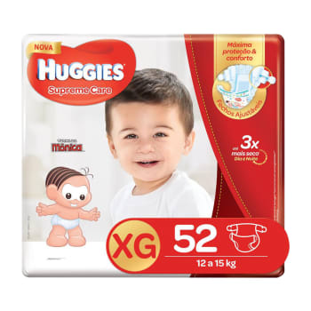 Fralda Huggies XG Supreme Care Hiper 52 Unidades