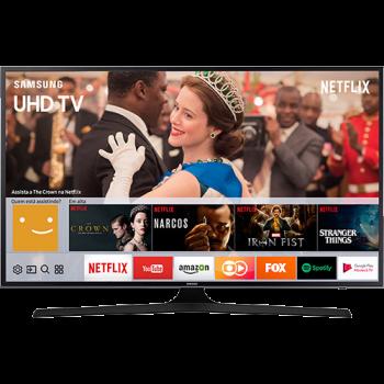 "Smart TV LED 55"" Samsung 55MU6100 UHD 4K HDR Premium com Conversor Digital 3 HDMI 2 USB 120Hz"