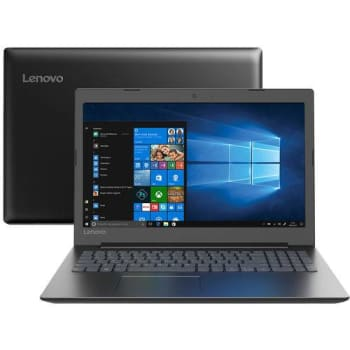"Notebook Lenovo Ideapad 330 Dual Core Intel Celeron 4GB 500GB Tela 15,6"" Windows - 10 Preto"