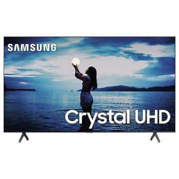 "Smart TV Samsung 55"" TU7020 Crystal UHD 4K 2020 Bluetooth Borda ultrafina Cinza Titan"