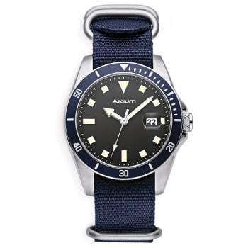 Relógio Akium Masculino Nylon Azul - 03E39GL02-VDSS-VX42