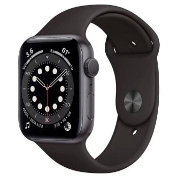 Apple Watch S6 44MM GPS com Case de Alumínio Space Gray e Sport Band Black - M00H3LL/A