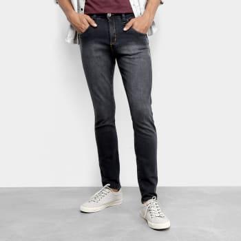 Calça Skinny Tbt Jeans Estonada Pespontos Masculina - PretoCalça Skinny Tbt Jeans Estonada Pespontos Masculina - Preto