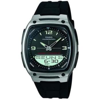 Relógio Casio Masculino, Caixa e Pulseira em Resina, Iluminação, Memória p/ 30 Tels, Cronômetro, 3 alarmes/soneca, 50m á prova d´água -AW-81-1A1VDF