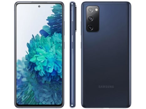 "Smartphone Samsung Galaxy S20 FE 128GB Cloud Navy - 4G 6GB RAM Tela 6,5"" Câm. Tripla + Selfie 32MP - Magazine Ofertaesperta"