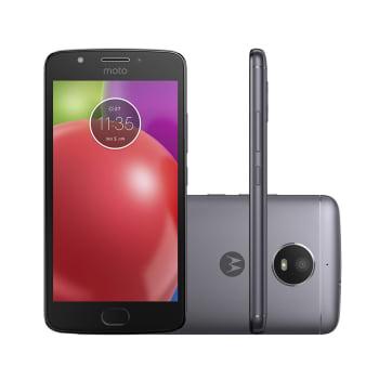 "Smartphone Motorola Moto E4 XT1763 16GB Titanium Tela 5.0"" Câmera 8 MP Android 7.1.1"