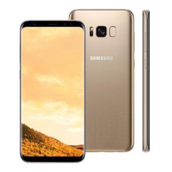 """Smartphone Samsung Galaxy S8 Plus Dourado com 64GB, Tela 6.2"""", Android 7.0, Dual Chip, Leitor de Íris, Câmera 12MP, Processador Octa Core e 4GB RAM"""
