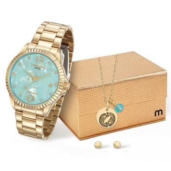 6a8f742b6 Relógio Feminino Analógico Mondaine 99129LPMKDE1K1 - Dourado em ...