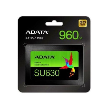SSD Adata SU630 960GB SATA Leitura 520MB/s Gravação 450MB/s - ASU630SS-960GQ-R