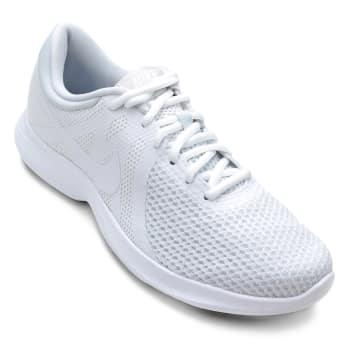 bdfddbcf300 Tênis Nike Wmns Revolution 4 Feminino - Branco em Promoção no Oferta ...