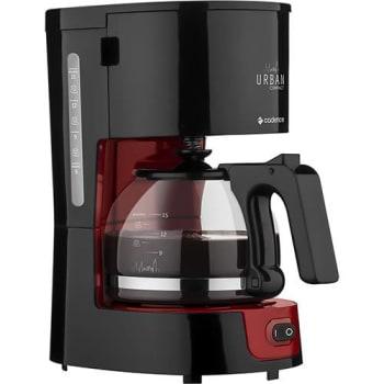 Cafeteira Elétrica Cadence Urban Compact CAF300 0,6L com Jarra de Vidro - Vermelha