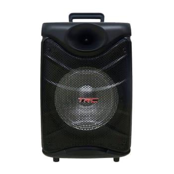Caixa de Som Amplificada TRC 517 Bluetooth USB Entrada para Microfone Rádio FM e Iluminação 190W