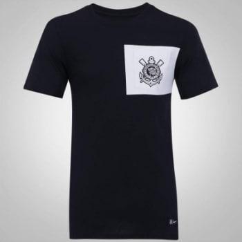 Camiseta do Corinthians Crest Nike com Bolso - Masculina