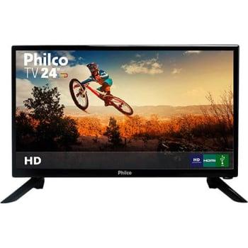 "TV LED 24"" Philco PTV24N92D Full HD com Conversor Digital 1 HDMI 1 USB Sleep timer - 60Hz"