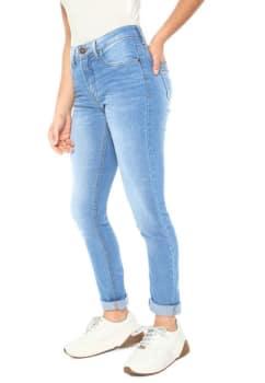 076452ab2cdf75 Calça Jeans Calvin Klein Jeans Skinny Five Pockets Azul em Promoção ...