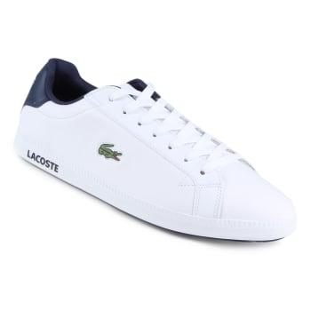 a52eb5a6422 Tênis Couro Lacoste Gradt Lcr3 Bkbk Masculino - Branco em Promoção ...