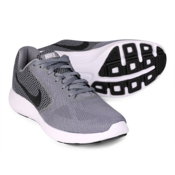 Tênis Nike Revolution 3 Masculino - Cinza e Branco