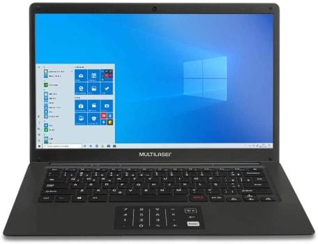 Notebook Multilaser Legacy Book Intel Pentium Quadcore 4GB 64GB Windows 10 Home 14,1 Pol. HD Preto - PC310