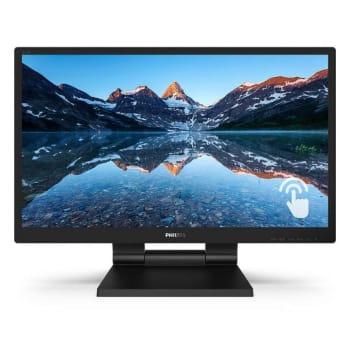 """Monitor Philips 23,8"""" Full HDTouch LED 242B9T 75Hz VGA DVI HDMI Preto"""
