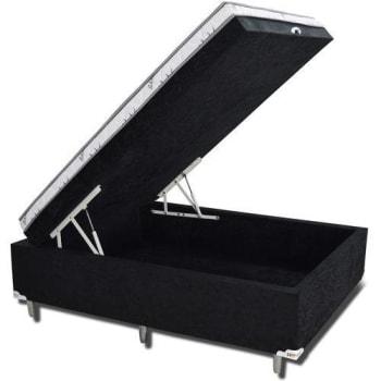 Cama Box Baú Casal 138x188x55cm Prisma Preto - Rifletti