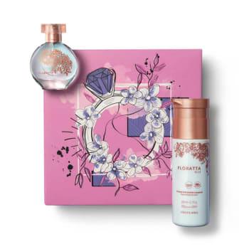 Kit Presente Floratta Blue: Desodorante Colônia 30ml + Creme Corporal 200ml + Caixa de Presente - O Boticário
