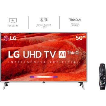 Smart TV Led 50'' LG 50UM7500 Ultra HD 4K Thinq AI Conversor Digital Integrado 3 HDMI 2 USB Wi-Fi