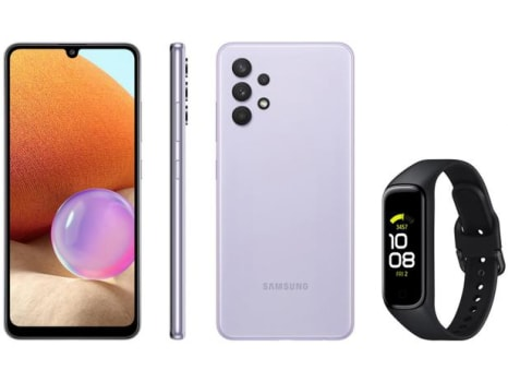 Smartphone Samsung Galaxy A32 128GB Violeta 4G - 4GB RAM + Smartband Galaxy Fit2 Preto - Magazine Ofertaesperta