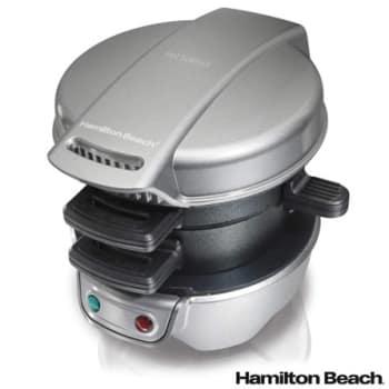 Sanduicheira Multiuso Hamilton Beach com Seletor de Temperatura Automático - 25475BZ - H325475BZPTA