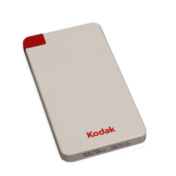 Carregador Portátil Kodak 4000Mah Power Bank Branco