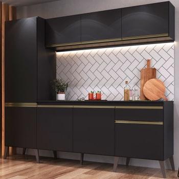 Cozinha Compacta 5 Peças Pietra Retro 2400 – GENIALFLEX - Preto