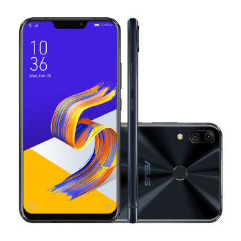 "Smartphone Asus Zenfone 5Z ZS620KL-2A076BR 256GB Preto 4G Tela 6.2"" Câmera 12MP Android 8"