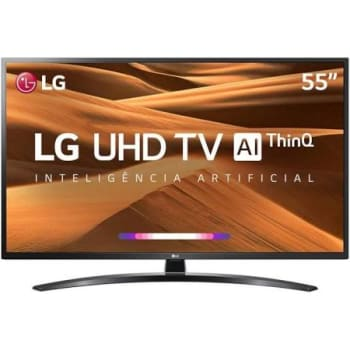 "Smart TV LED 55"" LG UM7470 Ultra HD 4K HDR Ativo, DTS Virtual X, Inteligência Artificial, ThinQ AI, WebOS 4.5"